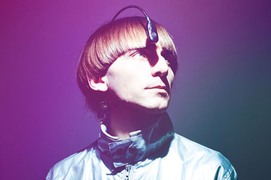 Neil Harbisson wearing his Eyeborg