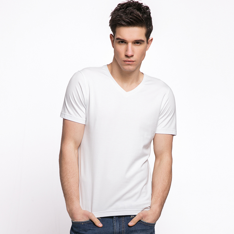 9d8836391165 Bamboo Fiber Fabric Men s V-neck T-Shirt - GARAKAMI