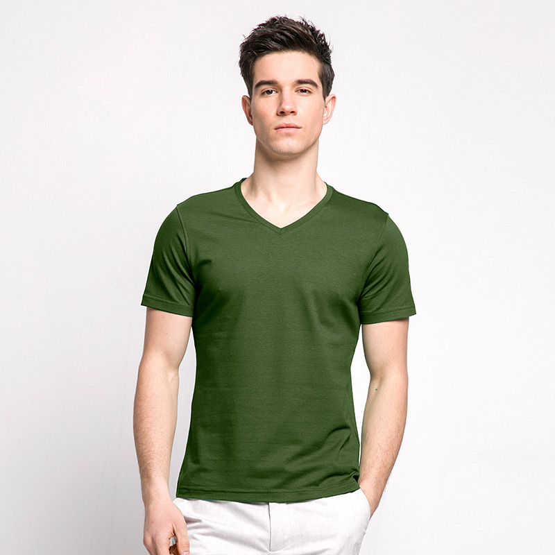 Bamboo fiber fabric men 39 s v neck t shirt garakami for Bamboo fiber t shirt